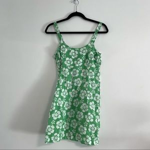 Holiday the label green flower dress